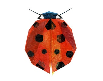 Ruby Bug - Ladybug Art Print, Ladybug Decor, Insect Art Print