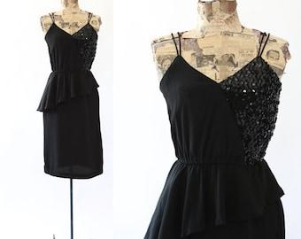 Jon Wesley dress | Vintage 70s sequin peplum dress
