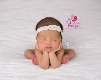 Baby Headband - Newborn Headbands- Baby Girl Headbands - Infant Headband -Baby Hair Accessories - Hairbows - Baby Girl Bows - Newborn Photos