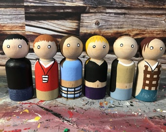 Wooden Peg People Inspired by Empire Records