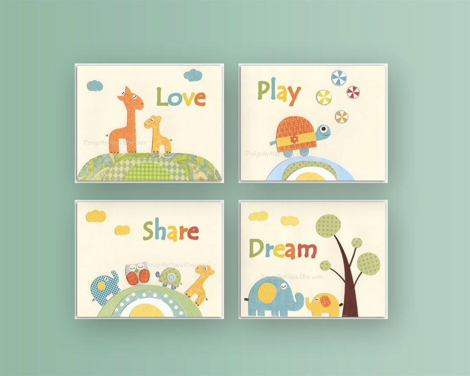 Kids wall art decor Nursery art prints Baby Room decor