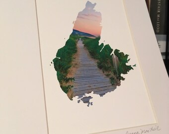 Inverness Boardwalk Sunset, Cape Breton Island, giclee art print