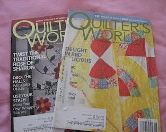 Quilter's World , 2 quilt magazines, 2010 back issues