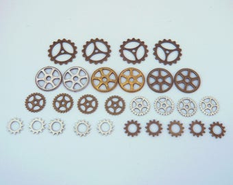 LOT 28 gear COG steampunk watch gear mechanism