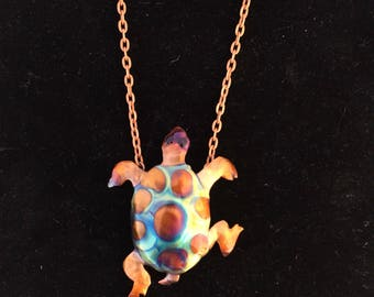 "Turtle Pendant on 18"" chain"