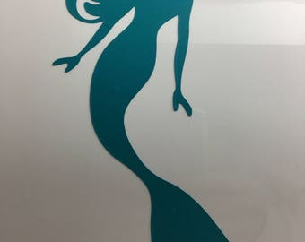 Mermaid beach, summer, tropical decal for bridal shower/ home/auto/electronics