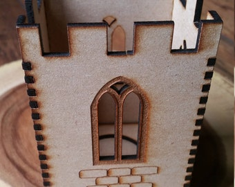 Ludlow Tower Lantern / Tea light Lantern / Candle Holder / Castle / Shropshire / UK Tower