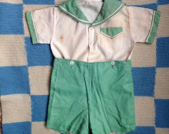 Vintage Child's Shirt and Shorts - Thirties Boy's Outfit - Thirties Costume - Vintage Boy's Sailor Suit - Vintage Child's Costume