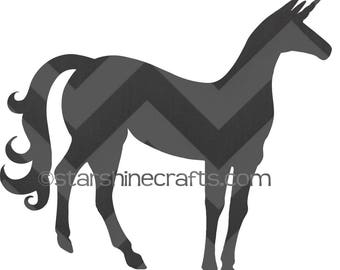 Unicorn silhouette SVG for personal cutting machines - instant download
