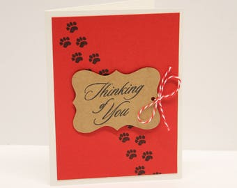 Thinking of you, pet sympathy card