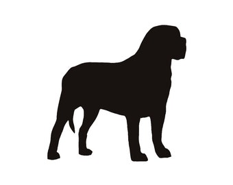 Mastiff Dog Breed Silhouette Custom Die Cut Vinyl Decal Sticker - Choose your Color and Size