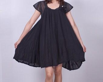 Shinning Stars - Black - Short Dress - idea2love