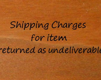 Shipping Charges to send out 2nd time