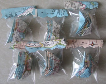 paper boat origami decoration party table decoration party favor lot of 30 small origami boats