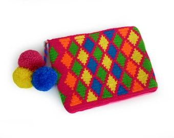Handbag Clutch / Evening Bag / Toiletry Storage / Makeup Bag / Pencil Bag / Bridesmaid Gift / Wayuu Clutch / Wayuu Bag / Gift for Women