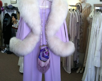 Vintage Hollywood faux fur capelet
