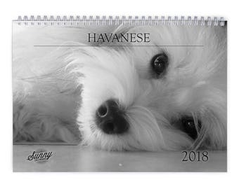 Havanese 2018 Wall Calendar
