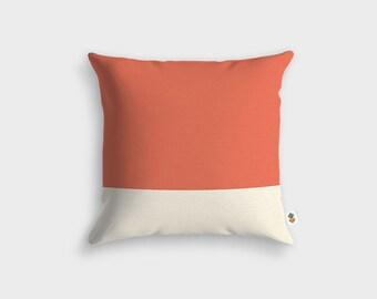 Basic white peach cushion - Made in France - 45 x 45 cm
