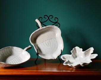 Leaf Shaped Bowls - Sold Separately or as Set
