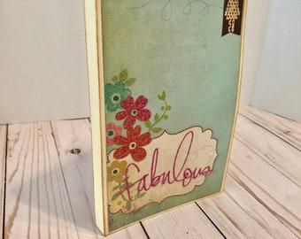 Handmade Vintage Scrapbook Mini Album - Fabulous