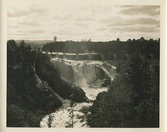 Canada New Brunswick water dam antique photo