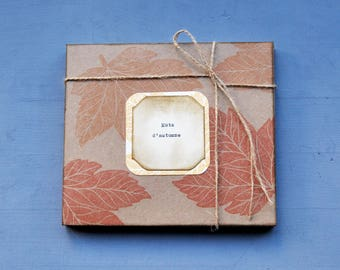 """Gift box with 6 prints """"Mots d'automne"""""""