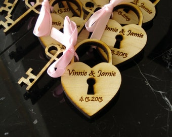 40 Heart and Key Wedding Favors