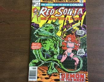 Red Sonja no 2 Marvel Comics  1977