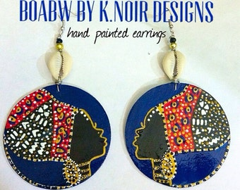 On & On Headwrap Earrings (navy)