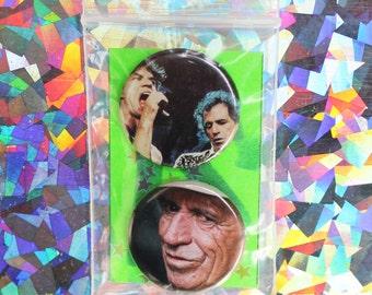 Mick Jagger / Keith Richards Button Set
