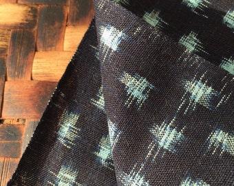 Japanese Indigo Cotton KASURI Small Polka Dot Fabric