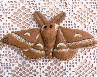Cecropia Moth Stitchy Doll