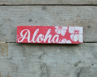 Aloha Handcrafted Sign
