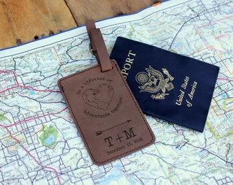 Custom Luggage Tag, Custom Bag Tag, Personalized Luggage Tag, Wedding Luggage Tag, Custom Engraved Luggage Tag, --FXLTG-DB-tm