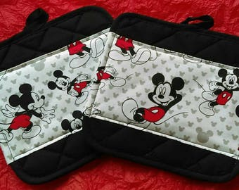 Mickey Mouse Kitchen Pot Holders - Hot Pads