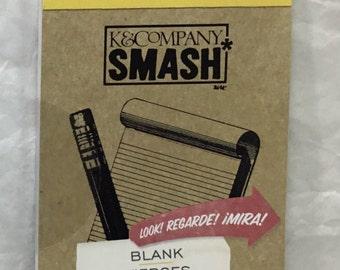 K&C Company ~ SMASH ~ BLANK 30 Sheets List Pad