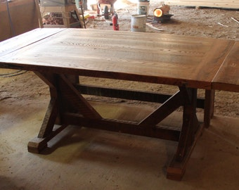 Reclaimed Pine farmhouse table **Free Shipping**
