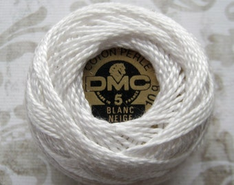 Yards DMC B5200 Snow White Perle Cotton Thread Size 8