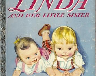Vintage 1950's Little Golden Book~Linda and Her Sister 1st Ed. Eloise Wilkin