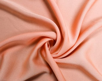 """Peach Bubble Satin 59"""" Fabric by the Yard - Style 701"""