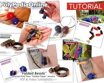 Polymer Clay Tutorial, Polymer Clay Jewelry, Polymer Clay, Polymer Clay Bead, DIY Beads, Clay Bead, Jewelry Tutorial, Fimo Necklace, PDF