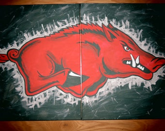 Officially Licensed Arkansas Razorback Paintings- FREE SHIPPING!