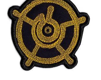 Zen Buddha Halo Patch Iron on  Patch
