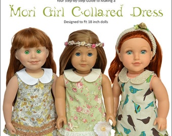Mori Girl Collared Dress for 18 inch dolls