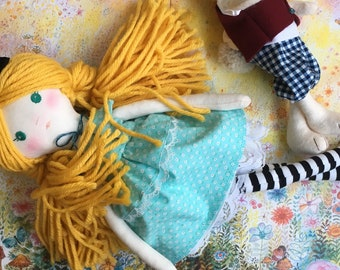 Personalized gift, dress up doll, nursery doll, soft doll, handmade dolls, gift for her, keepsake dolls, rag dolls, cloth dolls