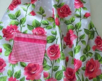 Floral Apron ~ Rose Apron ~ Half Apron ~ Hostess Apron
