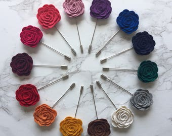 Beautiful High Quality Floral Lapel Pin In 14 Colours