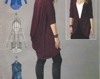 Womens Lagenlook Jacket & Vest Back Draped Jacket or Vest McCalls Sewing Pattern M7441 Size 16 18 20 22 24 26 Bust 38 40 42 44 46 48 FF