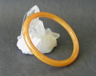 Vintage Semi Translucent Dark Orange Bakelite Bangle Bracelet Tested
