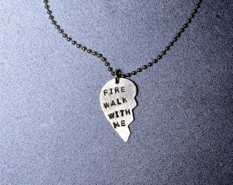 Fire Walk With Me Necklace